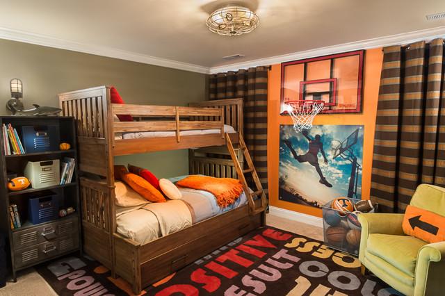 dekorasi kamar tidur cowok tema basket di atas bisa digunakan baik untuk maupun cewek serta berbagai umur