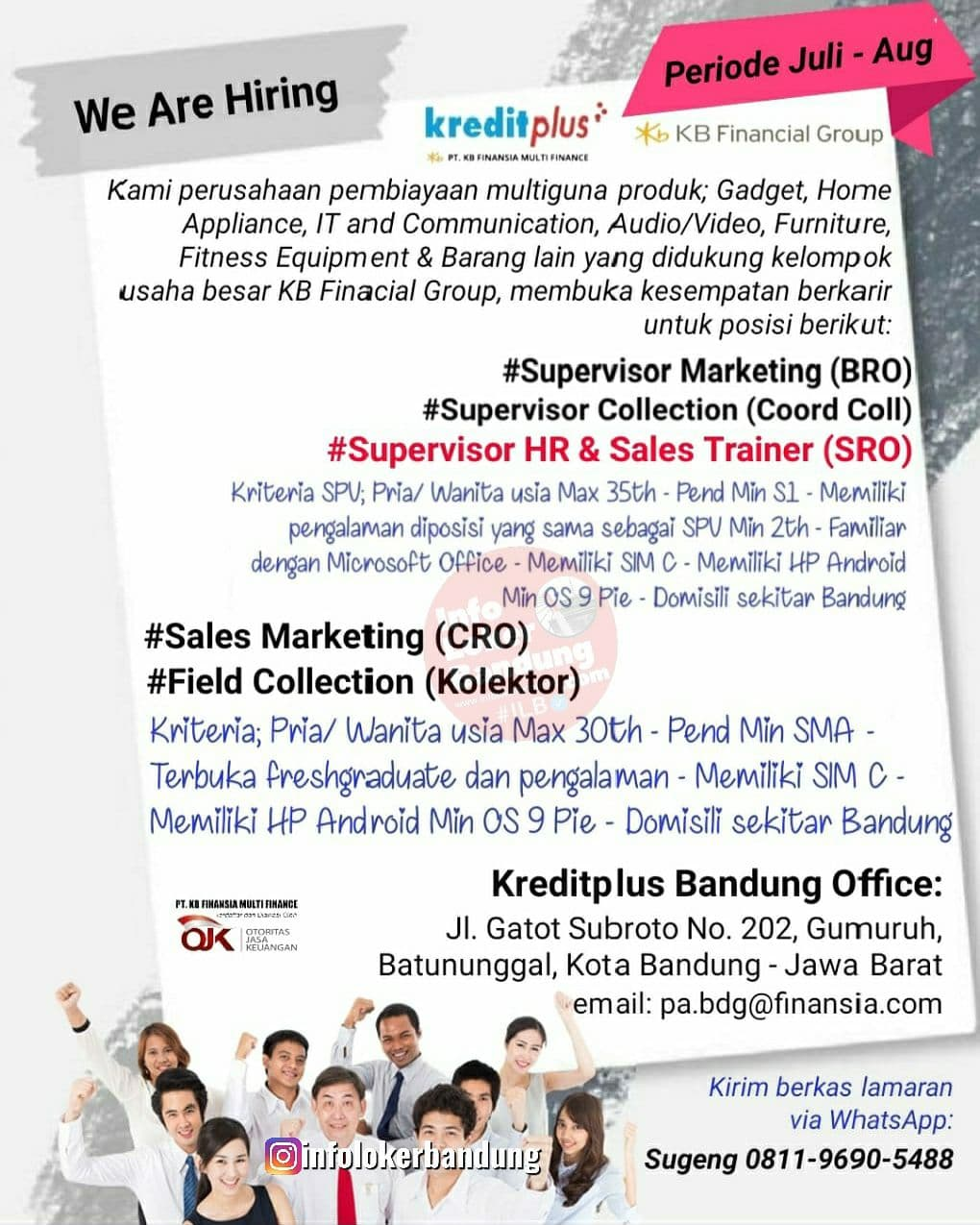 Lowongan Kerja Kreditplus Bandung Juli 2021