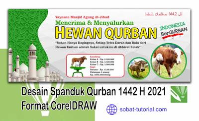Desain Spanduk Qurban 1442 H 2021 Format CorelDRAW