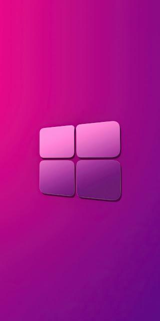 HD Windows 10 Pink Purple Gradient logo