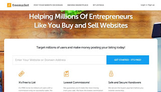 freemarket buy and sell domains websites