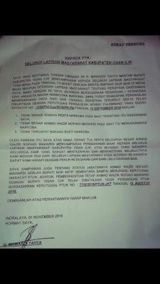 Melalui Surat Terbuka Mawardi Sampaikan Permohonan Maaf