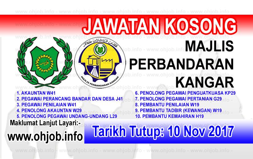 Jawatan Kerja Kosong Majlis Perbandaran Kangar logo www.ohjob.info november 2017