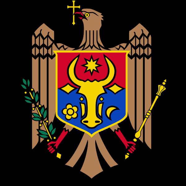 Logo Gambar Lambang Simbol Negara Moldova PNG JPG ukuran 600 px