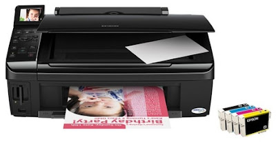 printer allow monochrome and color documents printing at a maximum speed rate  Epson Stylus TX419 Driver Downloads