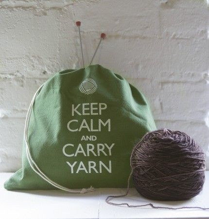 Keep Calm and Carry Yarn Funny