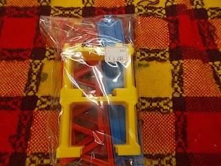 中古品プラレール赤と黄色の陸橋セット290円