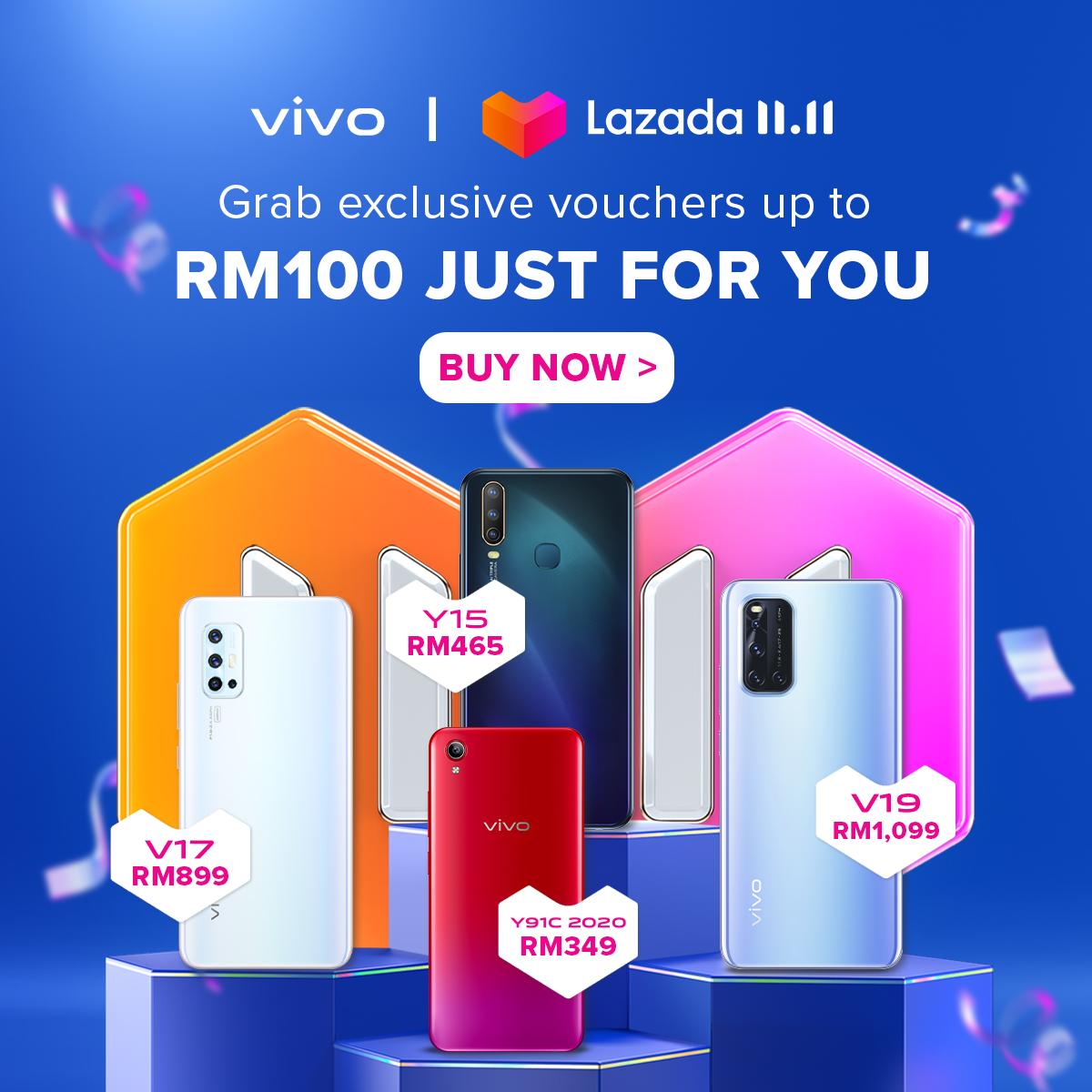 vivo Malaysia 11.11 Sales on Lazada