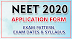 NEET 2020 Exam Date, Hall Ticket, Result And Syllabus 2020 -ntaneet.nic.in