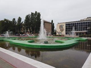 Мелитополь. Площадь Победы. Фонтан