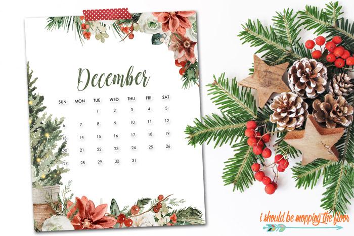 Free December Calendar Printables