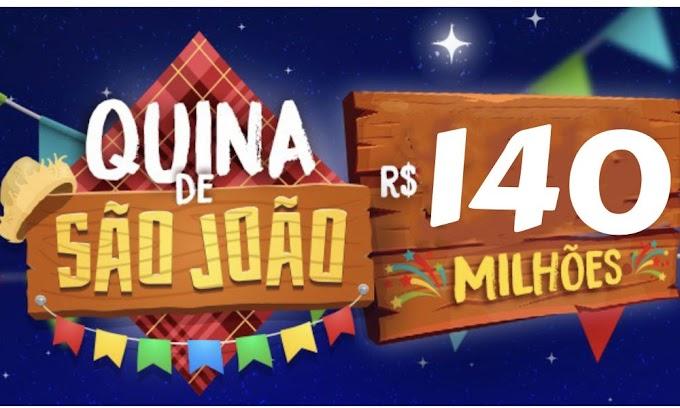 QUINA DE SÃO JOÃO: Resultado do sorteio.