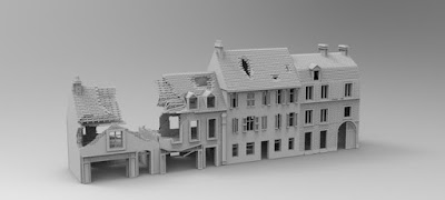 STRETCH GOAL £7500 LOCKED NORMANDY STREET RUIN SET picture 2