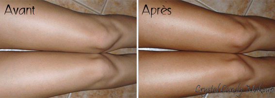 Perfect Legs Spray - Autobronzant St Tropez - Review - Before after