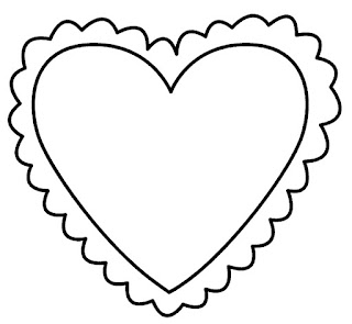 דפי צביעה מסגרות לב