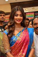 Puja Hegde looks stunning in Red saree at launch of Anutex shopping mall ~ Celebrities Galleries 014.JPG