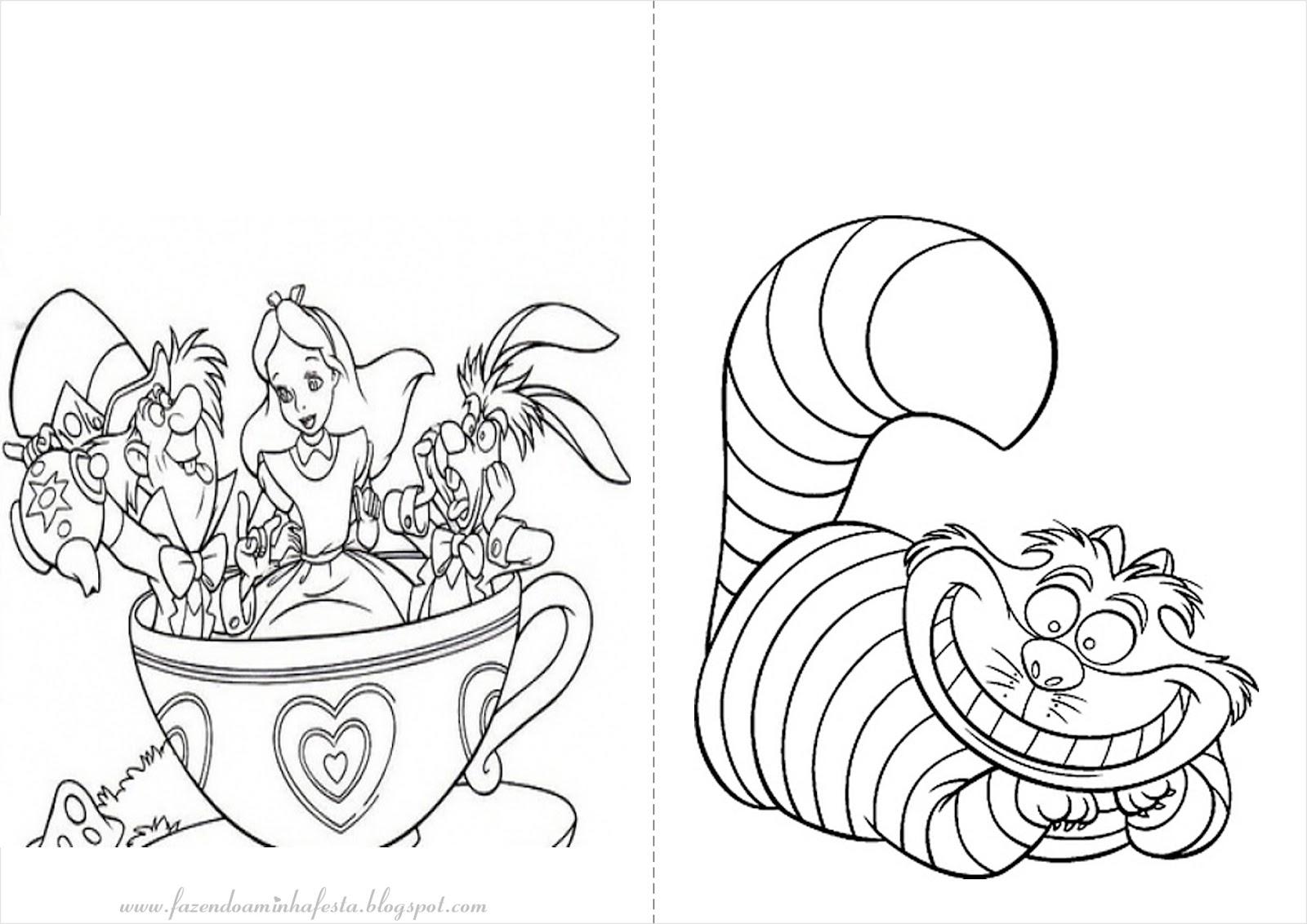 Desenhos De Alice No Pais Das Maravilhas