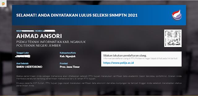 Cerita Saya Lolos SNMPTN 2021