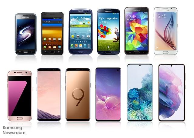 Esta es la evolución que ha tenido la serie Galaxy de Samsung a través del tiempo