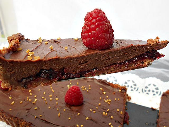ganache  chocolate e frutos vermelhos