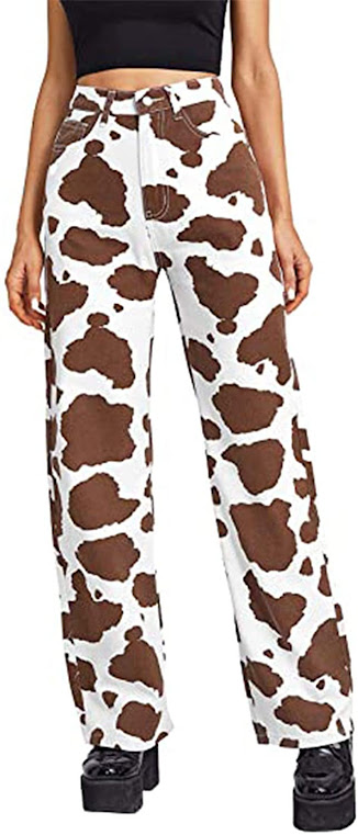 pantalón + estampado + vaca + vacaslecheras.net