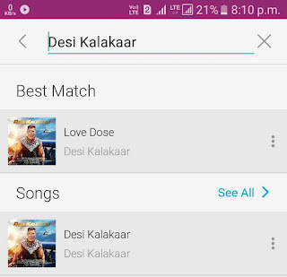 Search song on JioMusic