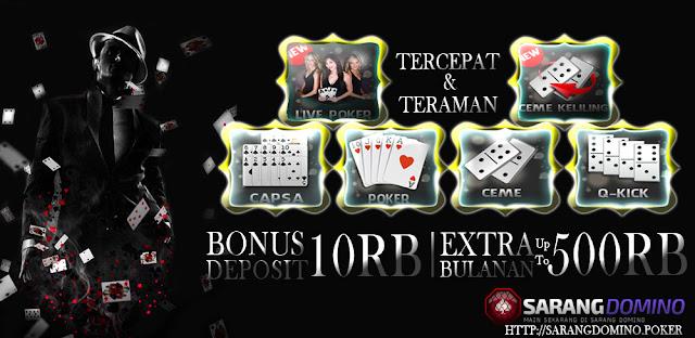 Agen Poker Online Dengan Bonus Terbesar Dan 100% Tanpa ROBOT
