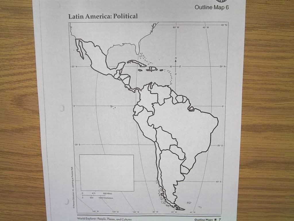 Bt Wilson Bobcat Social Stu S Political Map Of Latin America