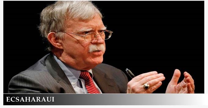 Bolton defiende la celebración de un referéndum de autodeterminación en el Sáhara Occidental.