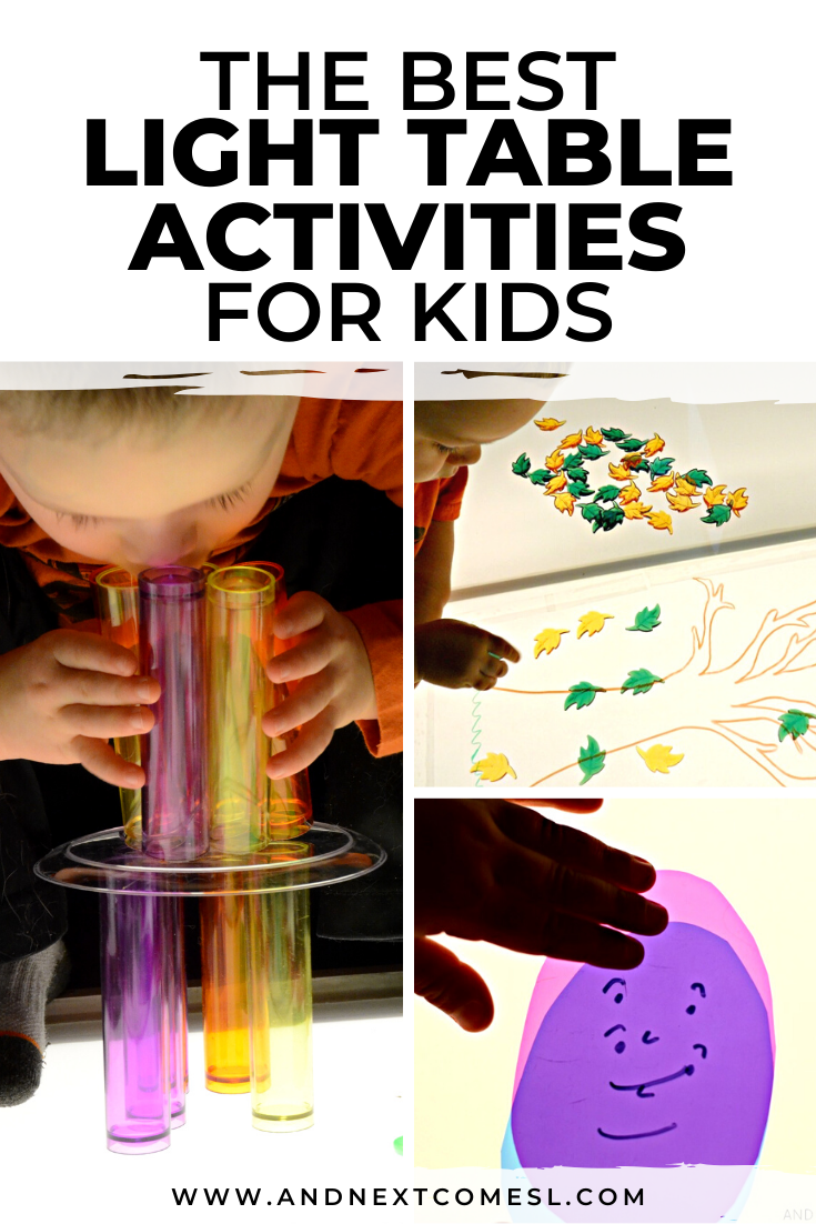 Awesome light table activities for toddlers, preschool kids, and kindergarten students