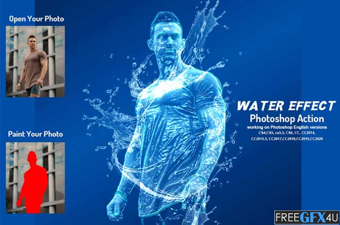 Water Effect Photoshop Action