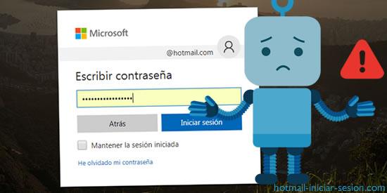 Errores de Hotmail al iniciar sesion