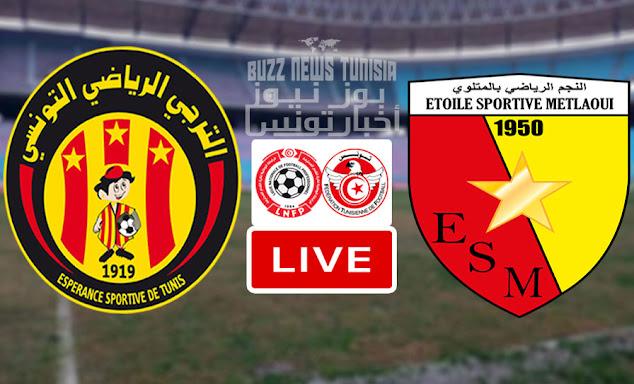 Match Esperance Tunis vs ES Metlaoui Live Stream