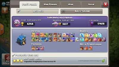 level maksimum hero dan pasukan clash of clans