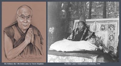 His Holiness the Dalai Lama. Tenzin Gyatso. Tibetan Buddhism. Enthronement Ceremony. by Travis Simpkins