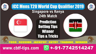 Who will win Today, ICC Men's WC T20 Qualifier 2019, 24th Match KEN vs SIN