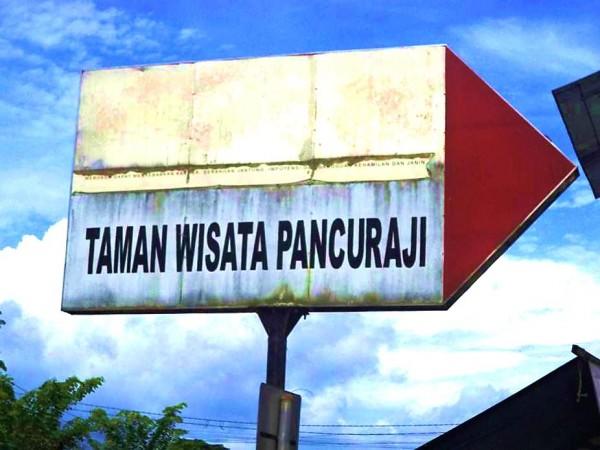 Tempat wisata Pancur Aji berada di kawasan perbukitan yang terletak di pinggiran teluk Sungai Kapuas Sanggau