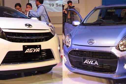 Daihatsu Ayla dan Toyota Agya