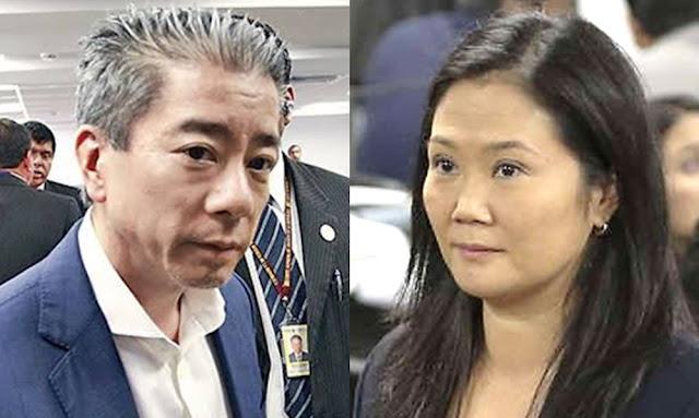 Jorge Yoshiyama y Keiko Fujimori