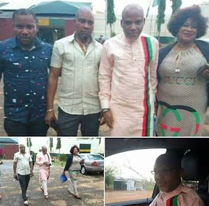 Nnamdi Kanu Pictured Taking a Walk Out Of Kuje Prison(Photo's)