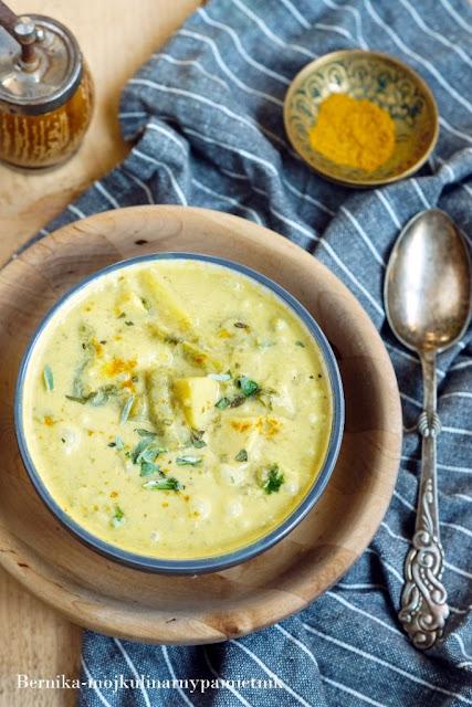 curry, warzywa, ziemniaki, mleczko kokosowe, bernika, kulinarny pamietnik