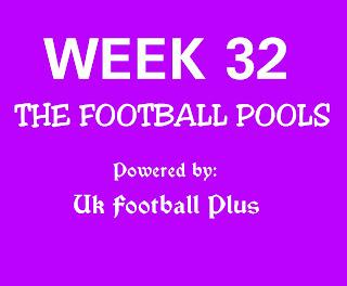 Week 32 UK football pools draw bankers by ukfootballplus
