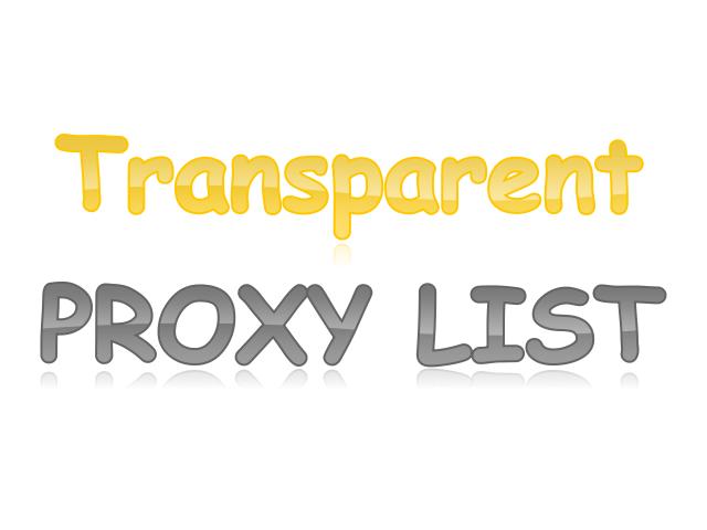 FREE Transparent HTTP Proxy Server List (443)