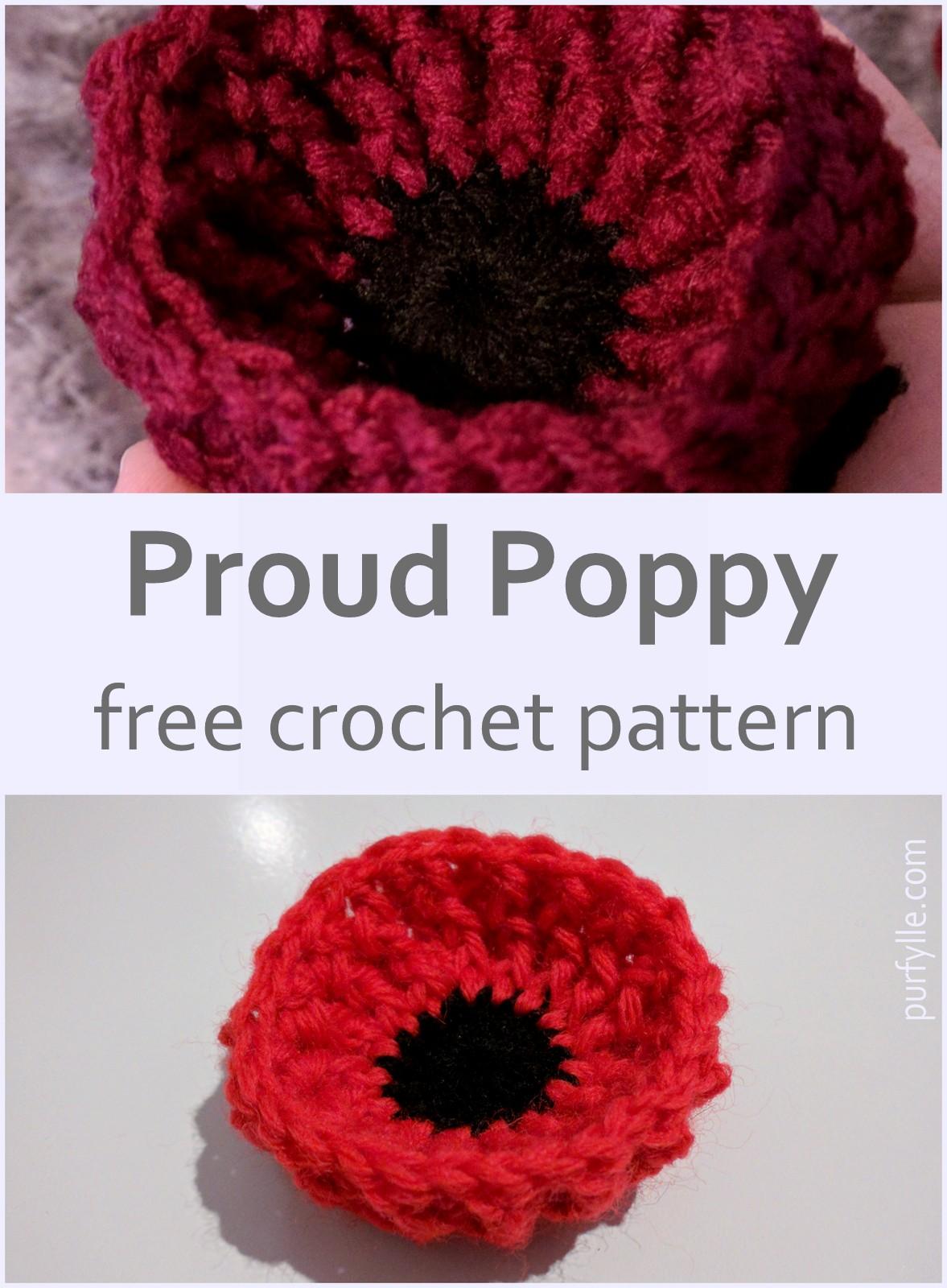 Proud Poppy Free Crochet Pattern
