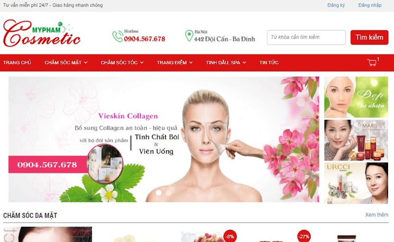 [Share] - Giao diện Mỹ phẩm cosmetic