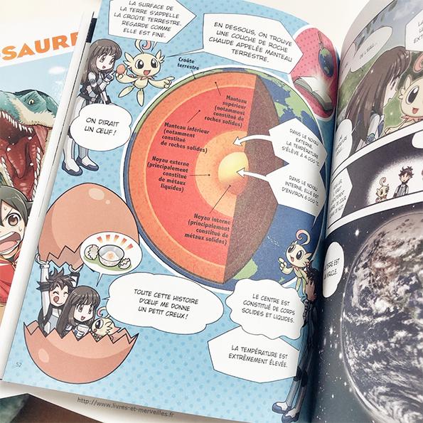 L'univers en manga & Les dinosaures en manga - bayard jeunesse