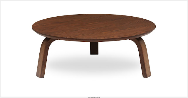 Top Wood Round Coffee Table Wall Picture