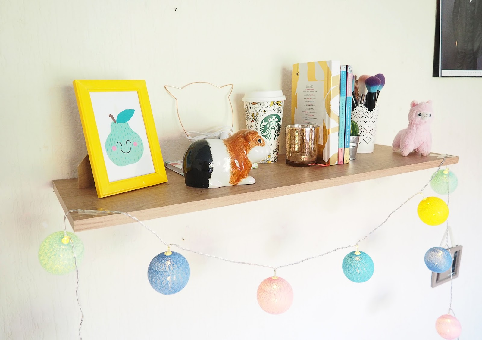 Epic Yep something as simple as a shelf decorated with fairy lights obv filled with all your sentimental bits and bobs will