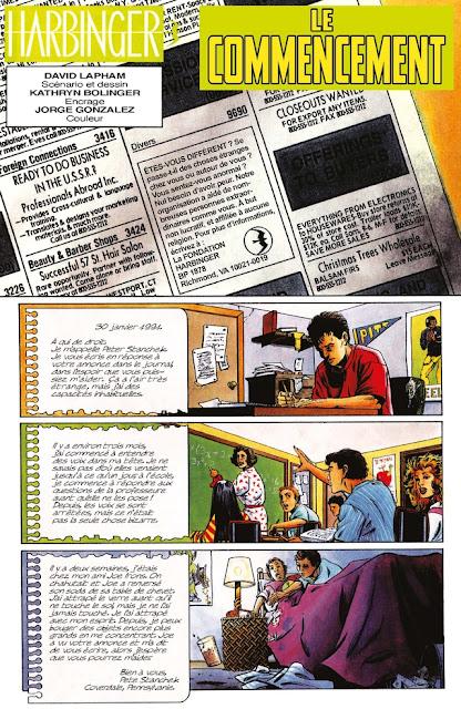Intégrale Harbinger  1992 de Jim Shooter et David Lapham aux éditions Bliss Comics planche 1