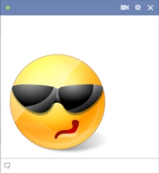 Facebook smiley with sunglasses
